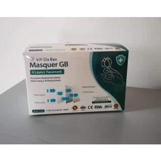 Medizinische OP Maske Typ II R | 50er Pack